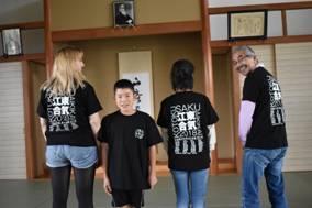 2018年江東区合気会合宿記念Tシャツ着用!